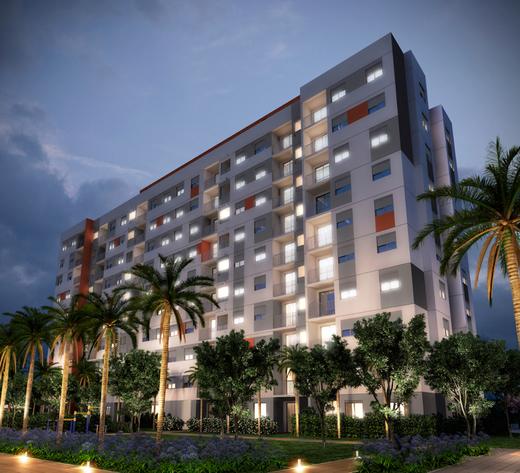 Fachada - Apartamento à venda Avenida Miguel Yunes,Campo Grande, São Paulo - R$ 473.245 - II-1782-6587 - 1