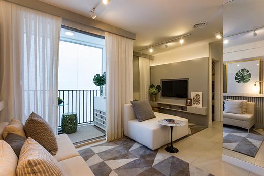 Living 58m2 - Apartamento à venda Avenida Miguel Yunes,Campo Grande, São Paulo - R$ 473.245 - II-1782-6587 - 4