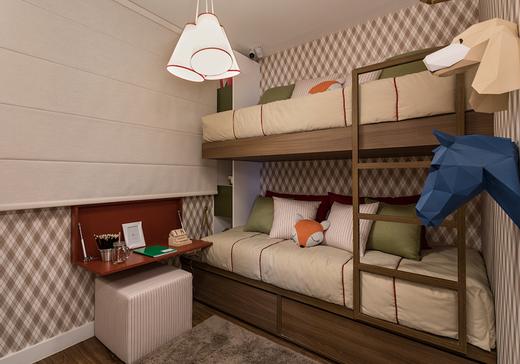Quarto crianca 58m2 - Apartamento à venda Avenida Miguel Yunes,Campo Grande, São Paulo - R$ 473.245 - II-1782-6587 - 10