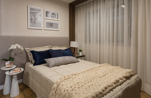 Quarto casal 44m2 - Apartamento à venda Avenida Miguel Yunes,Campo Grande, São Paulo - R$ 473.245 - II-1782-6587 - 16