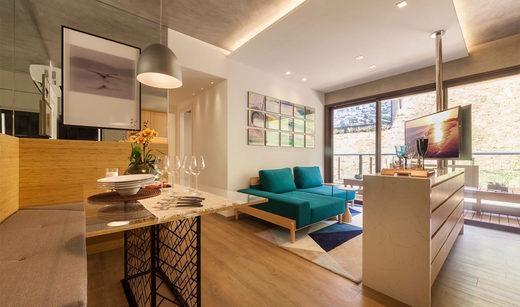 Living - Apartamento à venda Rua Girassol,Vila Madalena, Zona Oeste,São Paulo - R$ 1.180.492 - II-2067-7208 - 5