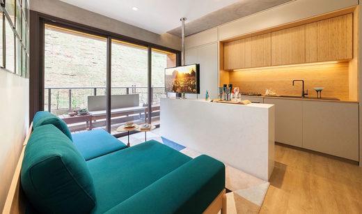 Living - Apartamento à venda Rua Girassol,Vila Madalena, Zona Oeste,São Paulo - R$ 1.180.492 - II-2067-7208 - 6