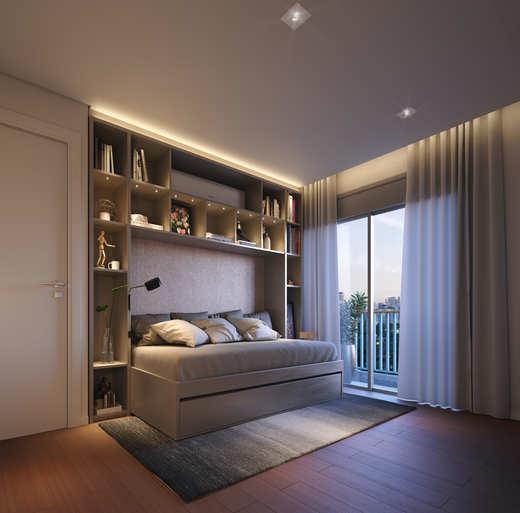 Dormitorio - Fachada - Elevo Moema - 76 - 9