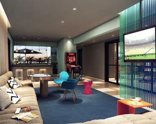Lounge - Apartamento à venda Avenida Duque de Caxias,Santa Cecília, São Paulo - R$ 802.010 - II-2402-7887 - 4