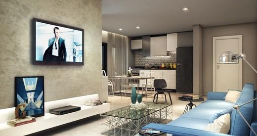 Living studio - Apartamento à venda Avenida Duque de Caxias,Santa Cecília, São Paulo - R$ 802.010 - II-2402-7887 - 5