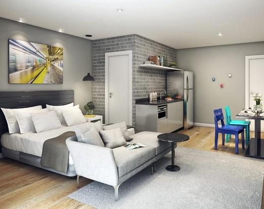 Living studio - Apartamento à venda Avenida Duque de Caxias,Santa Cecília, São Paulo - R$ 802.010 - II-2402-7887 - 6