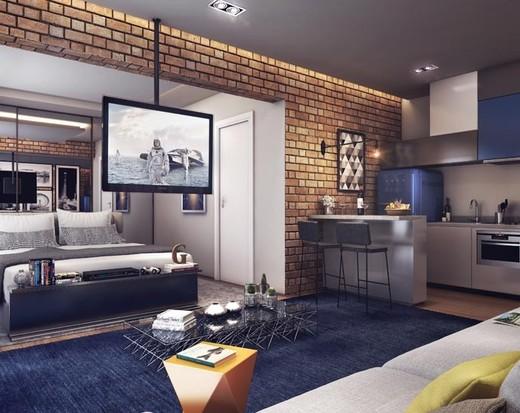 Living studio - Apartamento à venda Avenida Duque de Caxias,Santa Cecília, São Paulo - R$ 802.010 - II-2402-7887 - 7