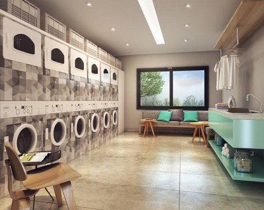 Lavanderia - Apartamento à venda Avenida Duque de Caxias,Santa Cecília, São Paulo - R$ 802.010 - II-2402-7887 - 12