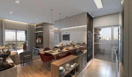 Living - Apartamento à venda Rua Mário Schioppa,Saúde, São Paulo - R$ 425.000 - II-2808-8834 - 4