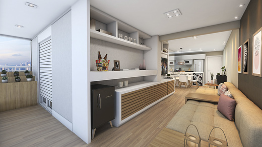 Living - Apartamento à venda Rua Mário Schioppa,Saúde, São Paulo - R$ 425.000 - II-2808-8834 - 5