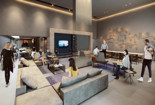 Lounge - Apartamento à venda Rua Antônio Marcondes,Ipiranga, São Paulo - R$ 647.309 - II-2968-9161 - 12