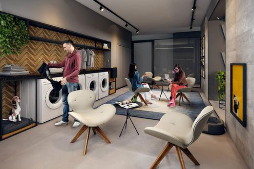 Lavanderia - Apartamento à venda Rua Antônio Marcondes,Ipiranga, São Paulo - R$ 647.309 - II-2968-9161 - 13