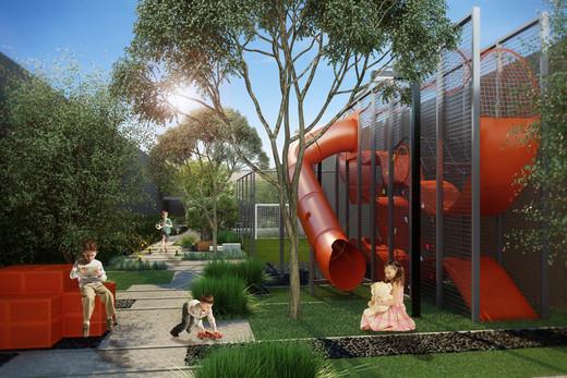 Playground - Apartamento à venda Rua Antônio Marcondes,Ipiranga, São Paulo - R$ 647.309 - II-2968-9161 - 18