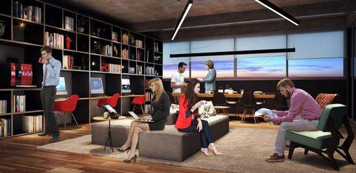 Coworking - Apartamento 2 quartos à venda Pinheiros, São Paulo - R$ 1.426.636 - II-2972-9176 - 23