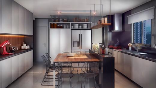 Cozinha - Cobertura à venda Rua Aimberê,Perdizes, São Paulo - R$ 2.953.639 - II-2974-9185 - 5