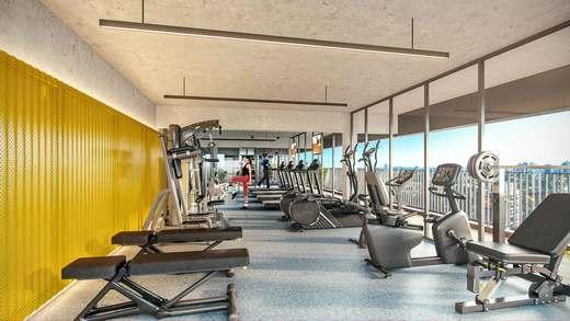 Fitness - Apartamento 2 quartos à venda Vila Madalena, São Paulo - R$ 848.100 - II-3030-9302 - 4
