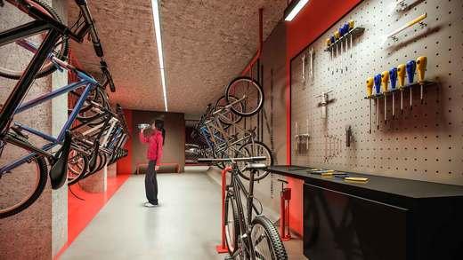 Bicicletario - Apartamento 2 quartos à venda Vila Madalena, São Paulo - R$ 848.100 - II-3030-9302 - 9