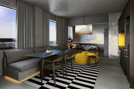 Living - Cobertura à venda Rua Turiassu,Perdizes, São Paulo - R$ 711.249 - II-3043-9358 - 5