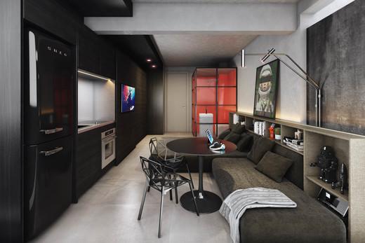 Living - Cobertura à venda Rua Turiassu,Perdizes, São Paulo - R$ 711.249 - II-3043-9358 - 6