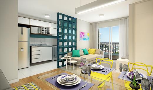 Living - Fachada - Condomínio Maxi - 492 - 4