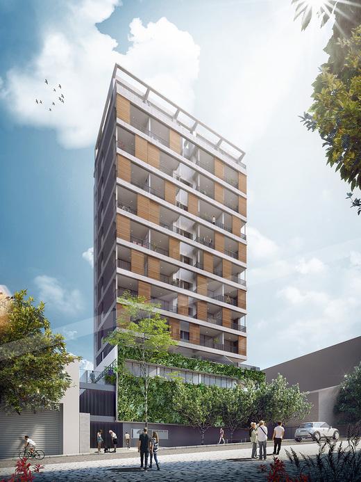 Fachada - Apartamento 1 quarto à venda Pinheiros, São Paulo - R$ 840.673 - II-3143-9547 - 1