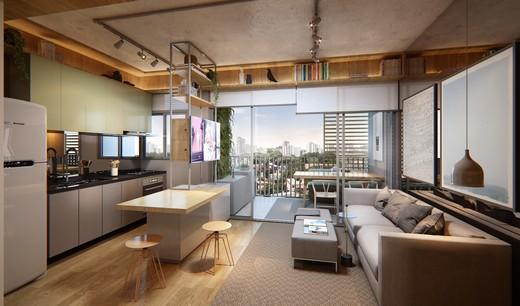 Living - Apartamento 1 quarto à venda Pinheiros, São Paulo - R$ 840.673 - II-3143-9547 - 5