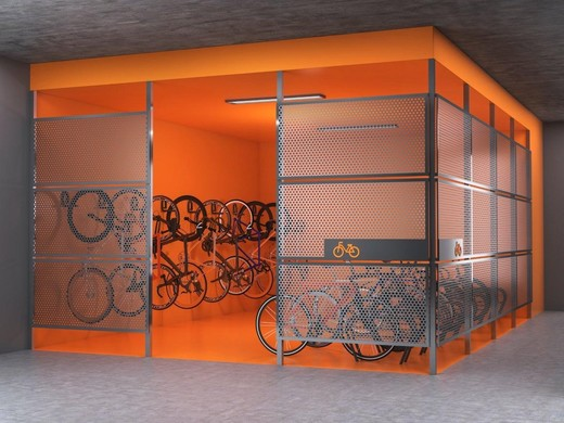 Bicicletario - Fachada - Galeria Guedala - 505 - 8