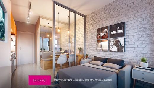 Living studio - Studio à venda Avenida Ibirapuera,Moema, São Paulo - R$ 497.000 - II-4002-10832 - 8