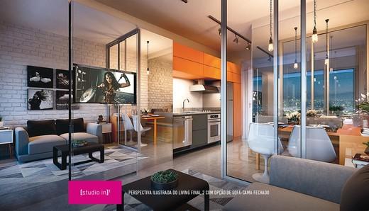 Living - Studio à venda Avenida Ibirapuera,Moema, São Paulo - R$ 497.000 - II-4002-10832 - 9