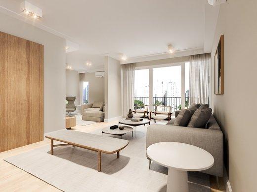 Living - Apartamento à venda Rua José Maria Lisboa,Jardim América, São Paulo - R$ 3.290.000 - II-4723-12007 - 7