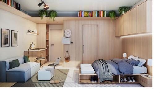 Living - Apartamento 1 quarto à venda Vila Madalena, São Paulo - R$ 1.047.500 - II-4571-11844 - 15