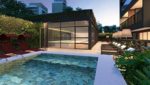 Deck e spa - Studio à venda Rua Vieira de Morais,Campo Belo, Zona Sul,São Paulo - R$ 418.758 - II-4798-12091 - 14