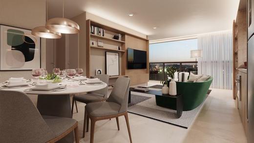 Living apto 65m2 - Studio à venda Rua Vieira de Morais,Campo Belo, Zona Sul,São Paulo - R$ 418.758 - II-4798-12091 - 7