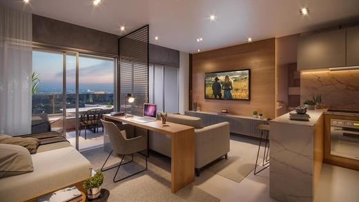 Living - Apartamento 1 quarto à venda Pinheiros, São Paulo - R$ 885.237 - II-4801-12103 - 13