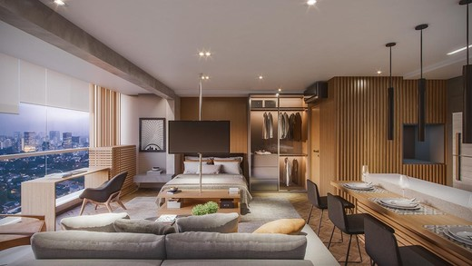 Dormitorio - Apartamento 1 quarto à venda Pinheiros, São Paulo - R$ 885.237 - II-4801-12103 - 19