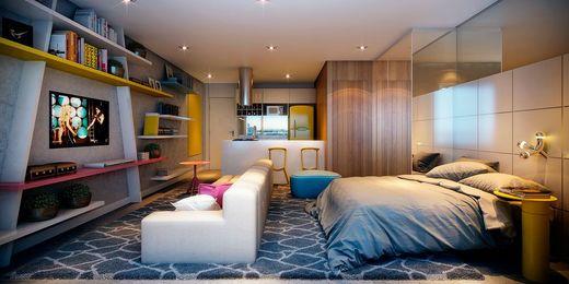 Living - Studio à venda Rua Vieira de Moraes,Campo Belo, Zona Sul,São Paulo - R$ 553.641 - II-4834-12188 - 4