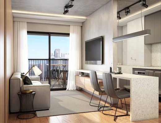 Living 2d - Apartamento 2 quartos à venda Pinheiros, São Paulo - R$ 1.122.000 - II-5052-12585 - 5