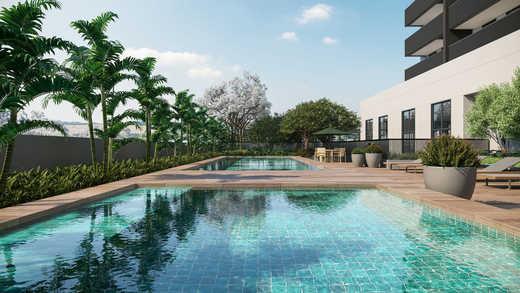Piscina descoberta - Apartamento 2 quartos à venda Pinheiros, São Paulo - R$ 1.122.000 - II-5052-12585 - 20