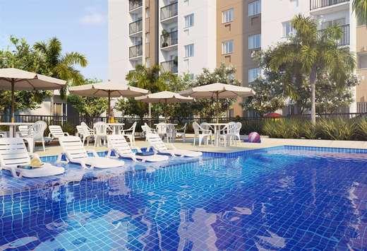 Piscina - Apartamento 1 quarto à venda Rio de Janeiro,RJ - R$ 203.732 - II-5060-12605 - 12