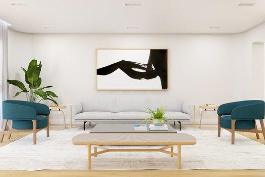 Living - Apartamento à venda Rua Leão Coroado,Vila Madalena, Zona Oeste,São Paulo - R$ 2.800.000 - II-5245-12969 - 7