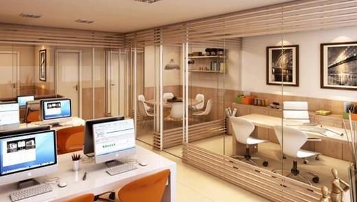 Interior sala - Fachada - Punto Offices - Lojas - 1291 - 10