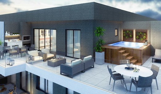 Varanda cobertura - Fachada - Raro Design Residence - 71 - 6