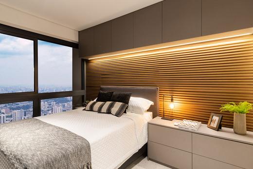 Dorm decorado - Studio à venda Rua Venâncio Aires,Perdizes, São Paulo - R$ 410.348 - II-5501-13559 - 7
