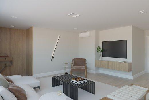 Living - Apartamento à venda Rua Jaques Félix,Vila Nova Conceição, Zona Sul,São Paulo - R$ 3.410.000 - II-4733-12017 - 5