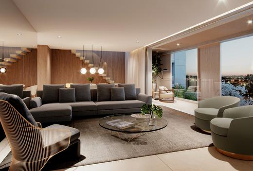 Living - Apartamento à venda Rua Andrade Fernandes,Alto de Pinheiros, São Paulo - R$ 4.712.053 - II-1467-5597 - 13