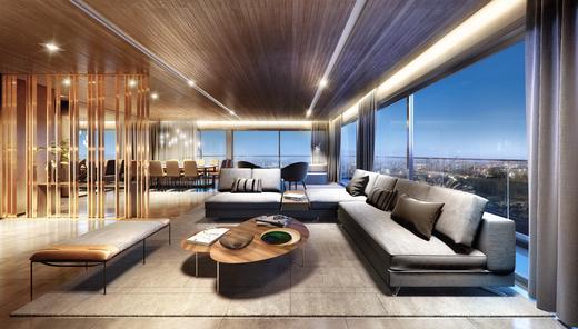 Living - Apartamento à venda Rua Andrade Fernandes,Alto de Pinheiros, São Paulo - R$ 4.712.053 - II-1467-5597 - 11