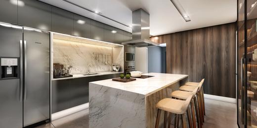 Cozinha - Apartamento à venda Rua Andrade Fernandes,Alto de Pinheiros, São Paulo - R$ 4.712.053 - II-1467-5597 - 14