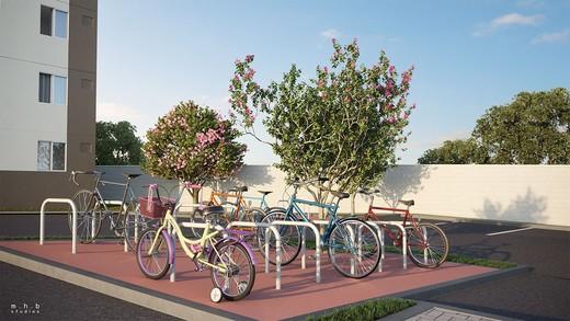 Bicicletario - Apartamento 2 quartos à venda Campo Grande, Rio de Janeiro - R$ 162.000 - II-6480-15068 - 6