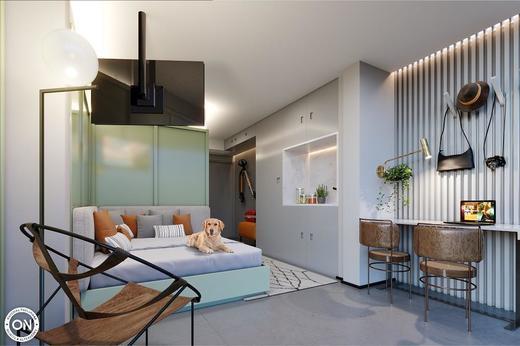 Living - Studio à venda Avenida Bernardinho de Campos,Vila Mariana, São Paulo - R$ 498.184 - II-6782-15425 - 4