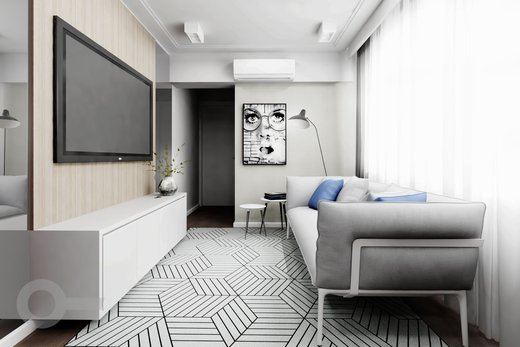 Living - Apartamento à venda Rua Tupi,Santa Cecília, São Paulo - R$ 479.000 - II-6922-15624 - 6
